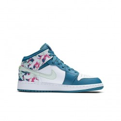 Air Jordan 1 Mid Paint Stroke GS 555112-300