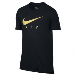 Koszulka Nike Fly Droptail Tee Black Gold 806879-011