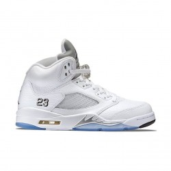 Air Jordan 5 Retro White/Metallic Silver