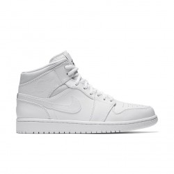 Air Jordan 1 Mid All White 554724-110