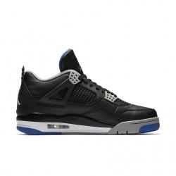 Air Jordan 4 Black/Game Royal-Matte Silver-White 308497-006