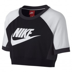 Women's Nike Sportswear Top Black/White 909145-010