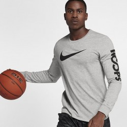 Koszulka Nike Dry Long-Sleeve T-Shirt Grey/Grey 882204-063