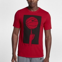 Koszulka Nike Spinning Ball Dry Tee Red 882194-657