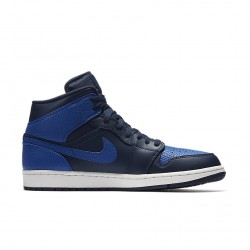 Air Jordan 1 Mid Obsidian/Royal 554724-412