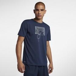 Koszulka Nike Dry Shatter Navy AJ2785-410