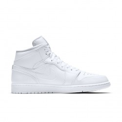 Air Jordan 1 Mid All White 554724-104