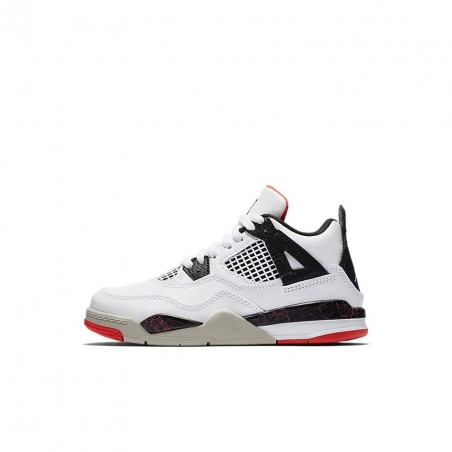Air Jordan 4 Retro White Black Bright Crimson PS BQ7669-116