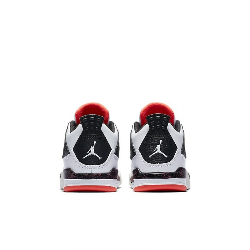 Air Jordan 4 Retro White Black Bright Crimson PS BQ7669-116
