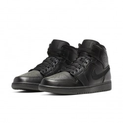 Air Jordan 1 Retro Mid Black 554724-090