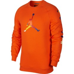 Bluza Air Jordan DNA Fleece Crew Orange AV0044-820