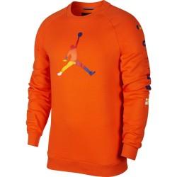 Bluza Air Jordan DNA Fleece Crew Orange AV0044-820