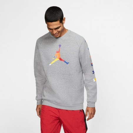 Bluza Air Jordan DNA Fleece Crew Carbon Heather AV0044-091