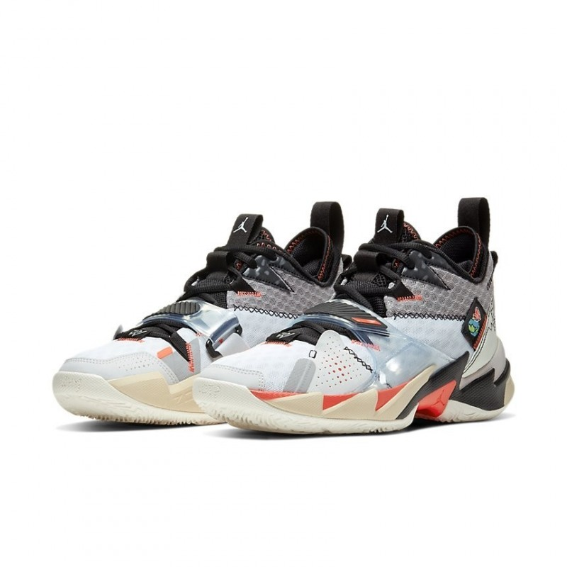 Air Jordan Why Not Zer0.3 White/Bright Crimson Black CD3003-101