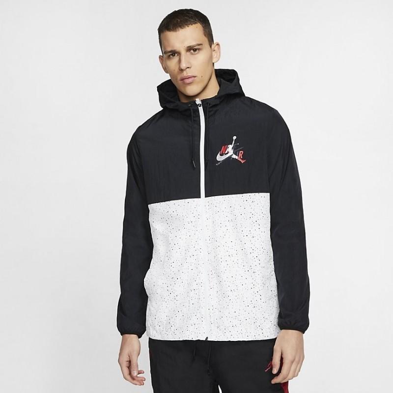 Kurtka Air Jordan Classics Windwear Jacket White Black CT9368-010