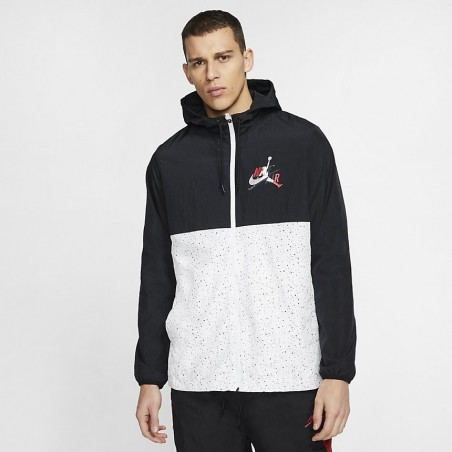 Kurtka Air Jordan Classics Windwear Jacket White Black CT9368-010