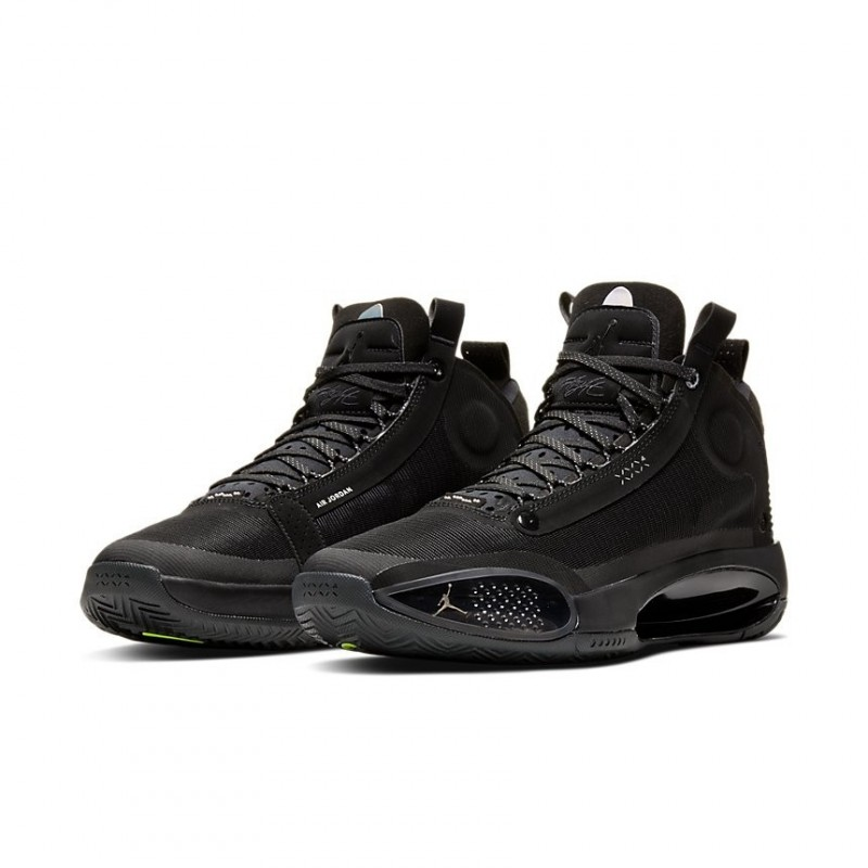 Air Jordan XXXIV Black/Green AR3240-003