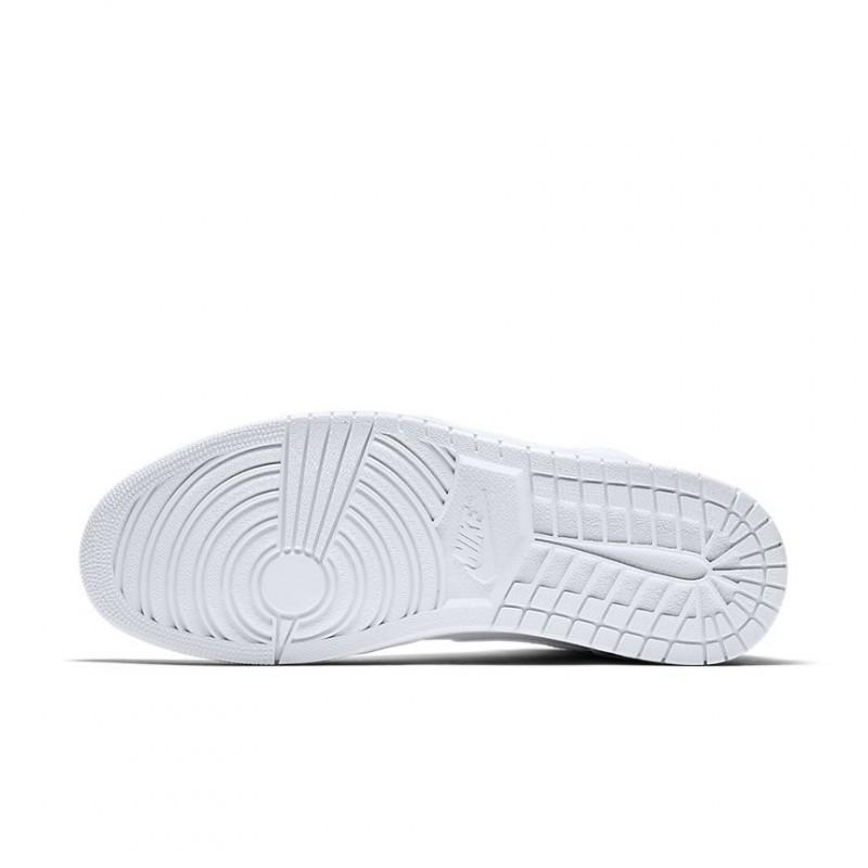 Air Jordan 1 Mid All White 554724 104