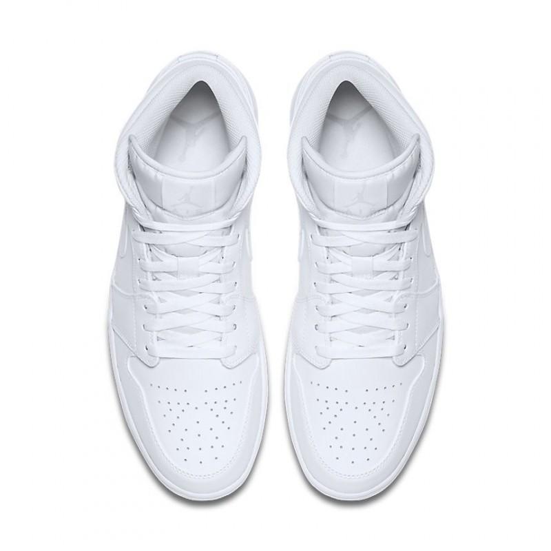 Air Jordan 1 Mid All White 554724-104
